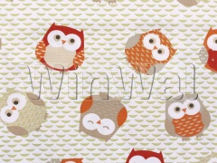 Ткани Fryett's - Owls - Red/Orange Fryett's