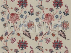 BF10784.1 Baker's Indienne Embroidery Indigo/Red