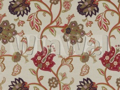 Ткани Mulberry Home - FLORAL FANTASY / RED/PLUM FD763.V54 Mulberry Home