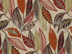 Ткани Mulberry Home - FOREST LEAVES / RED/PLUM FD766.V54 Mulberry Home