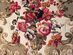 Ткани Mulberry Home - FLORAL ROCOCO / TAUPE FD101/523.N101 Mulberry Home