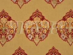 Ткани Mulberry Home - ALEXANDRIA SILK/LINEN / RED/GOLD FD691.V102 Mulberry Home