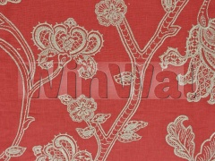 Ткани Colefax&Fowler - Lace Tree Red Colefax&Fowler