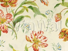 Ткани Colefax&Fowler - Delft Tulips Pink/Green Colefax&Fowler