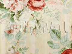 Ткани Colefax&Fowler - Jubilee Rose Pink/Green Colefax&Fowler