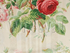 Ткани Colefax&Fowler - Jubilee Rose Red/Green Colefax&Fowler