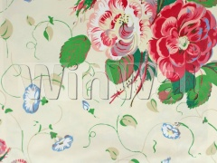 Ткани Colefax&Fowler - Roses and Pansies Red Colefax&Fowler