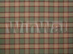 Ткани Colefax&Fowler - Lowick Plaid Red / Sage Colefax&Fowler