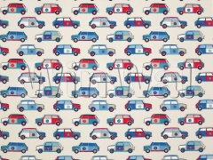 Ткани Jane Churchill - Pop Cars Blue/Red Jane Churchill