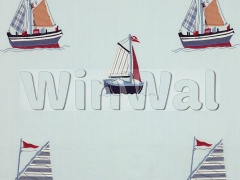 Ткани Jane Churchill - Sailing Applique Red/Blue Jane Churchill