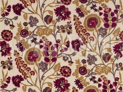 Ткани Zoffany - Hardwick Crewel Antique Gold/Cinnabar 332969 Zoffany