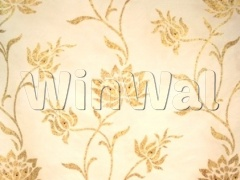 Floral Trail Organza Gold/ Brown