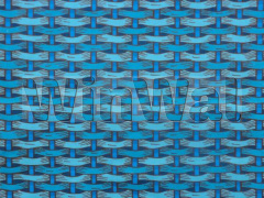 Rattan Blue and Turquoise Fabric