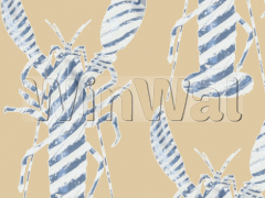 Ткани Bradley - Lobster Stripe Wheat Fabric Bradley