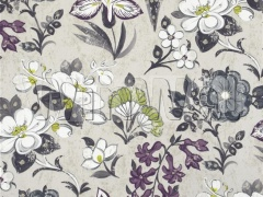 Ткани Designers Guild - LOTUS FLOWER - CHARCOAL F1835/04 Designers Guild
