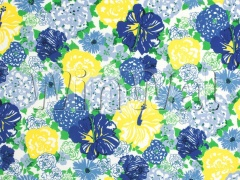 Ткани Lee Jofa - HERITAGE FLORAL II BLUE/YELLOW 2016103.540 Lee Jofa