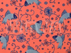 Ткани Lee Jofa - ORIENTAL FISHES INDIGO 949104.LJ Lee Jofa